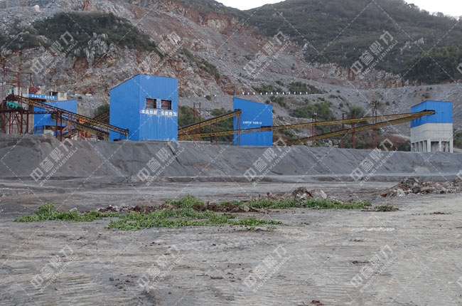 湖北宜昌时产600吨石料生产线