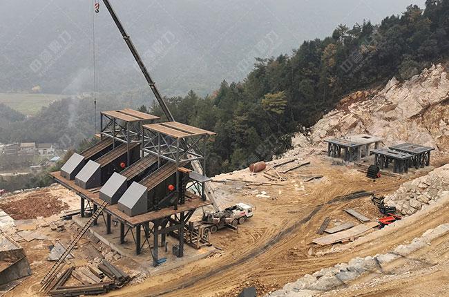 四川省南方矿业时产1500吨砂石破