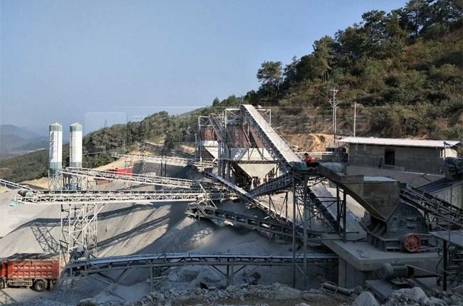 【时产800吨】云南玉磨铁路宁洱段时产600-800吨砂石骨料生产线
