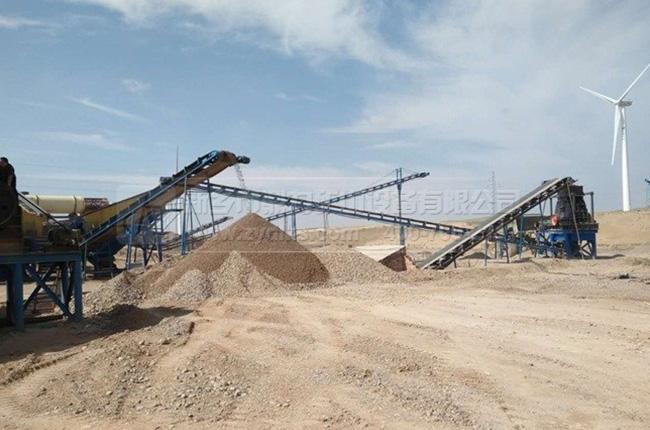 宁夏灵武时产200吨砂石生产线