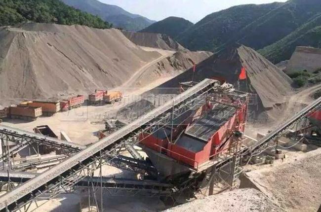 宁夏固原时产800吨石料生产线